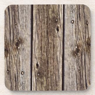 Photo Realistic Rustic, Weathered Wood Board Coaster