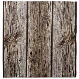 Photo Realistic Rustic, Weathered Wood Board Napkin