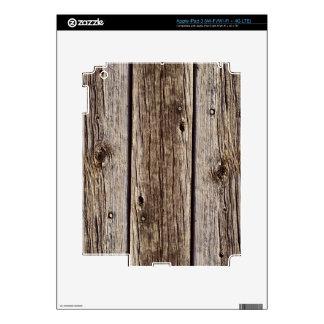 Photo Realistic Rustic, Weathered Wood Board Skin For iPad 3