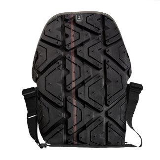 Photo realistic tyre tread close up messenger bag