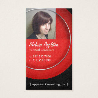 Photo - Red Circle Premium Red-Core Business Cards