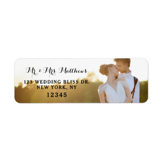 Photo Return Address Labels | Wedding Bliss Design
