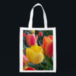 "Photo Reusable Grocery Bag<br><div class=""desc"">You can create your own photo souvenir by replacing my image of tulips with your own digital photo. Create a nice souvenir from a family vacation.</div>"