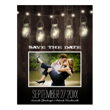 rusticweddings Photo Rustic Country Mason Jar Save The Date Cards