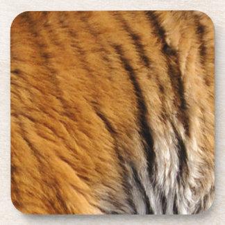 Photo-sampled Tiger Stripes Big Cat Wildlife Coaster