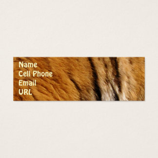 Photo-sampled Tiger Stripes Big Cat Wildlife Mini Business Card