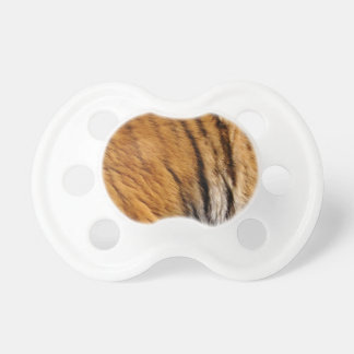 Photo-sampled Tiger Stripes Big Cat Wildlife Baby Pacifier