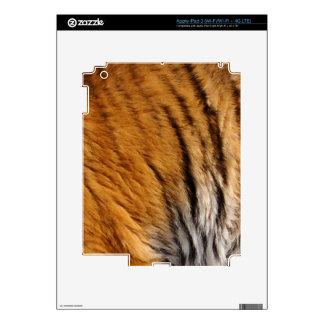 Photo-sampled Tiger Stripes Big Cat Wildlife Skin For iPad 3