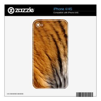 Photo-sampled Tiger Stripes Big Cat Wildlife Skins For iPhone 4S