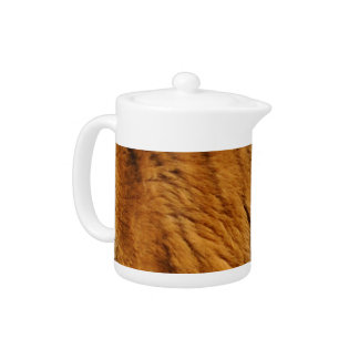Photo-sampled Tiger Stripes Big Cat Wildlife Teapot