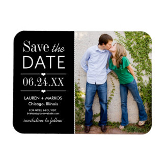 Photo Save the Date | Black and White Magnet