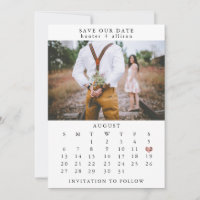 Photo Save The Date Calendar
