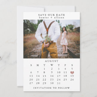 Photo Save The Date Calendar