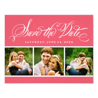 Photo Save the Date Card   Calligraphy Script
