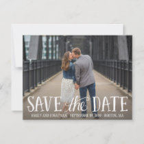 Photo Save the Date Cards, Casual Lettered