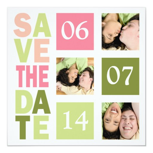 """Photo Save The Date Cards 5.25"""" Square Invitation Card"""