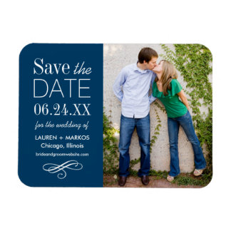 Photo Save the Date | Custom Color Magnet