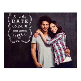 Photo Save the Date | Decorative Overlay Postcard