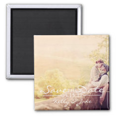 Photo Save The Date Magnet at Zazzle
