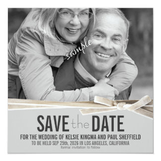 Photo Save the Date Modern Style Card