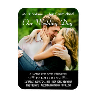 Photo Save the Date | Movie Poster Design Magnet