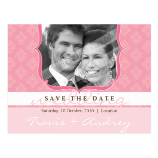 PHOTO SAVE THE DATE :: pictureframe elegance 6 Postcard