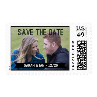Photo Save the Date Postage Stamp