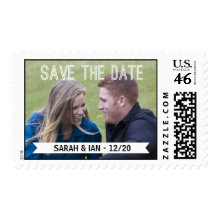 Photo Save the Date Postage Stamps