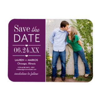 Photo Save the Date | Purple Magnet
