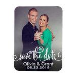 Photo Save the Date | Stylish Script Rectangular Photo Magnet