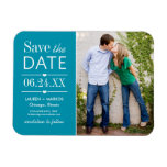 Photo Save the Date | Teal Blue Flexible Magnets