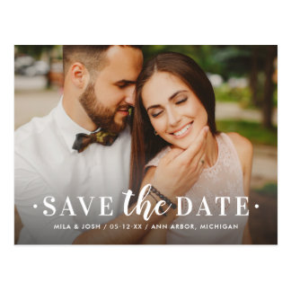 Photo Save the Date | Timeless Type Postcard