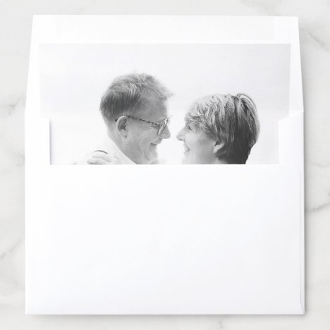 Photo Save the Date Wedding Picture Simple Modern Envelope Liner