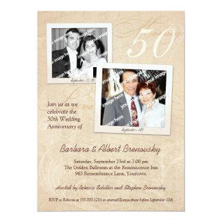"""Photo Scrapbook Anniversary Party Invitation 5.5"""" X 7.5"""" Invitation Card"""