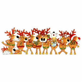 Photo Sculpter - Reindeer Christmas Magnet