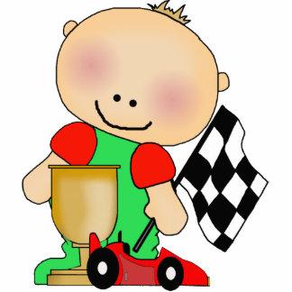 Photo Sculpture Baby Boy Race Car Driver