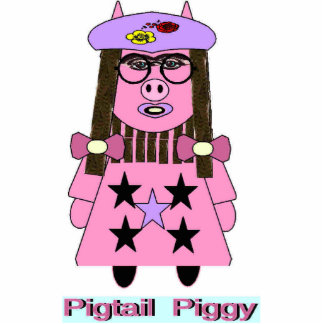 """Photo Sculpture featuring the New """"Pigtail Piggy"""""""