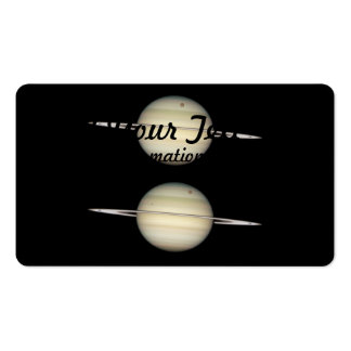 Photo Sequence of Saturn Business Card Template