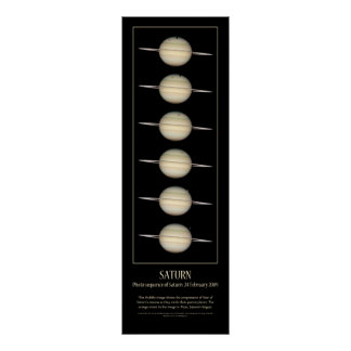 Photo sequence of Saturn's 4 Moons Poster