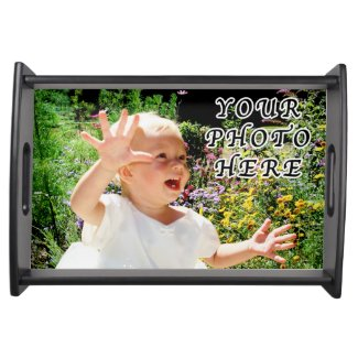 Photo Serving Tray with YOUR PHOTO and INSTRUCTION