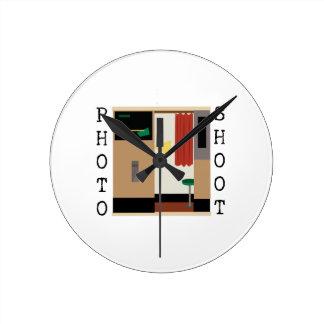 Photo Shoot Round Clock