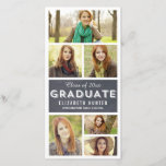 """Photo Showcase CHALKBOARD Graduation Photo Cards<br><div class=""""desc"""">These chic and modern photo cards stylishly request your guests to save the date for your big day. Available in other colors (custom color requests are welcome!). Visit Berry Berry Sweet store for more design options.  DESIGN &#169;  berryberrysweet.com</div>"""