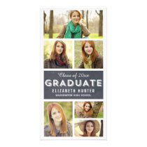 Photo Showcase CHALKBOARD Graduation Photo Cards