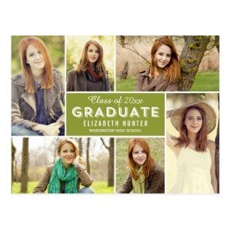 Photo Showcase EDITABLE COLOR Graduation Postcard