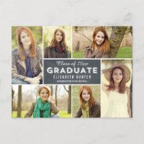 Photo Showcase Graduation Announcement Chalkboard