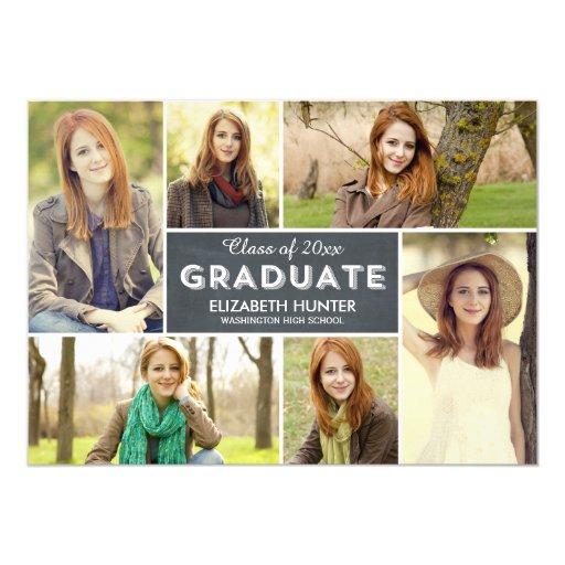 Photo Showcase Graduation Invitation - Chalk