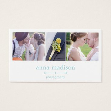 Professional Business Photo Showcase Photography Business Card - Blue
