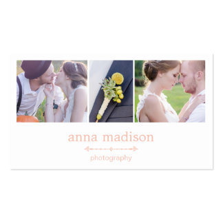 Photo Showcase Photography Business Card - Pink Business Cards