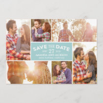 Photo Showcase Save The Date - Blue