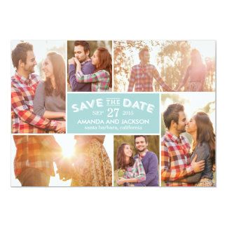 Photo Showcase Save The Date - Blue Card